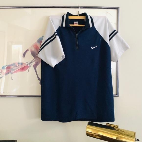 bafc3fdf8 Nike Other | Rare 70s 80s Quarter Zip Short Sleeve Polo | Poshmark